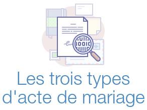 trois types acte mariage